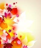 härlig höstbakgrund Royaltyfri Fotografi