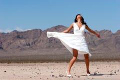 härlig klänningkvinna Royaltyfri Fotografi