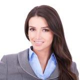härlig kvinna för affärsframsida s Royaltyfri Foto