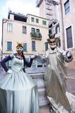 Härlig kvinna i Venedig Arkivfoton