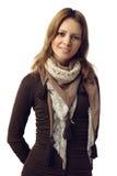Härlig kvinnamodemodell med toothy leende Royaltyfri Foto