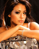 härlig latinamerikansk kvinna Arkivfoto