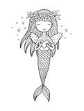 härlig liten mermaid siren abstrakt tema för abstraktionbakgrundshav Royaltyfri Foto