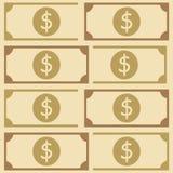 Härlig modell för amerikanska pengar Arkivfoto