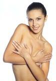 härlig naken kvinna Fotografering för Bildbyråer