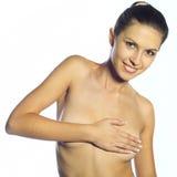 härlig naken kvinna Arkivbilder