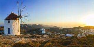 Härlig panoramautsikt av den Amorgos ön, Grekland Arkivbild