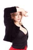 härlig posera tango för ballerina Royaltyfri Fotografi