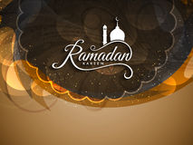 Härlig Ramadan Kareem religiös designbakgrund Royaltyfri Fotografi