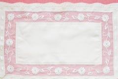 Härlig rosa tablecloth Royaltyfri Foto