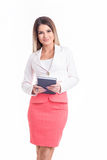Härlig stark och lyckad affärskvinna som ser dig Arkivfoto