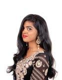 härlig östlig indisk kvinna Fotografering för Bildbyråer