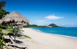 härlig strand Royaltyfria Bilder