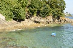 Härlig strand i Bueu Royaltyfri Bild