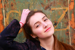 Härlig studentflicka i Paris Fotografering för Bildbyråer