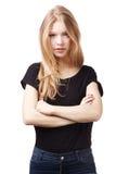 Härlig tonårig flickastående Royaltyfri Fotografi