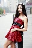 härlig utomhus- kvinna Royaltyfria Foton