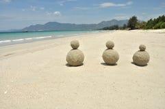 Härlig vit sandstrand i Vietnam Arkivfoton
