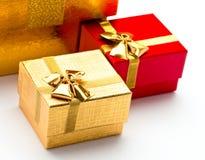 Härliga askar för gåvor Fotografering för Bildbyråer