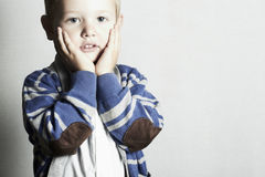 Härliga barn för child.little boy.stylish kid.fashion Arkivfoton