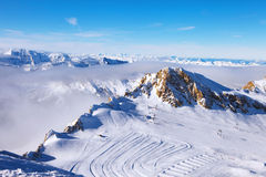 härliga berg österrikiska alps Saalbach Royaltyfri Bild