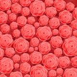Härliga blommande Rose Flowers på rosa bakgrund skriva för mall för designbrandanteckningsbok som är ditt Arkivfoton