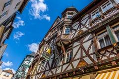 Härliga gator av gamla Marburg Royaltyfri Fotografi