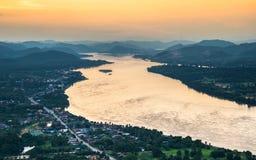 Härliga Mekong River Royaltyfri Foto