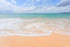 Härliga Nai Yang Beach, Phuket, Thailand Fotografering för Bildbyråer