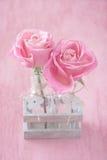 Härliga rosa rosblommor Fotografering för Bildbyråer