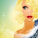 härligt blont stirra för kvinnlig 2 Arkivfoton