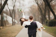Härligt bröllop, make och fru, vänman Royaltyfria Bilder