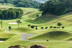 Härligt golfställe med trevlig grön färg, Taiwan Arkivfoto