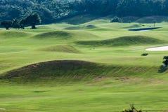 Härligt golfställe med trevlig grön färg, Taiwan Arkivbilder