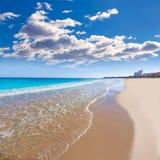Härligt medelhavs- för Alicante San Juan strand Arkivfoton