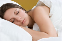 härligt sova för flicka Royaltyfri Bild