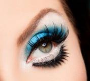 Härligt womanish öga Fotografering för Bildbyråer