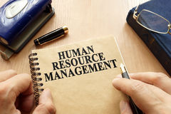 HRM - Human Resource Management. Book with title HRM - Human Resource Management Royalty Free Stock Photos