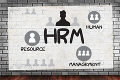 HRM Human Resource Management  Strategy Planning Working HRM man Stock Image