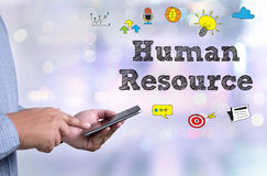 HRM Human Resource Management  Strategy Planning Working HRM man Royalty Free Stock Images