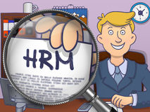 HRM through Lens. Doodle Concept. Royalty Free Stock Photo