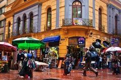 Hörn för upptagen gata Royaltyfria Foton