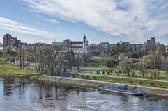 Hrodna. In Belarus - the other side of the Neman River royalty free stock photography