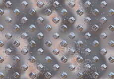 Hrome metal background. With elements 3D with visible high corrosion Royalty Free Stock Image