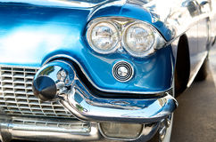 Hrome on vintage American car royalty free stock photo