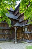 Hronsek in Slovakia. Wooden articular church. Bardejov, Slovakia - AUGUST 06, 2015: Hronsek. Old fully wooden one of the five preserved artucular churches in Royalty Free Stock Images