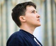 Héros de l'Ukraine Nadiya Savchenko après libération de p russe Image libre de droits
