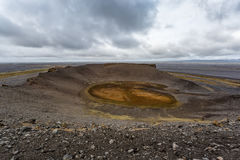 Hrossaborg crater in Iceland Stock Image