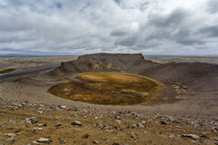 Hrossaborg crater in Iceland Royalty Free Stock Photos