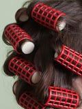 hårrullar Arkivfoto